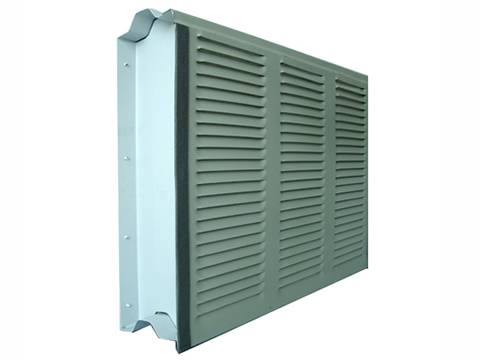 A noise barrier with louver hole on the white background.
