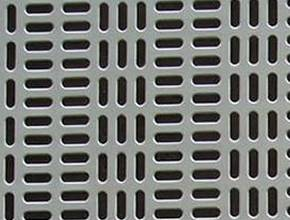 Perforated sheet in decorative slot hole pattern-1