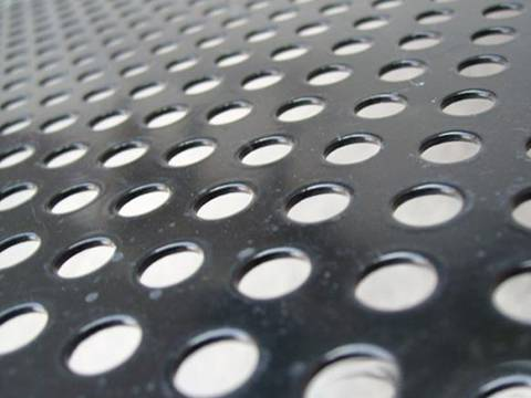 A perforated stainless steel sheets with round holes