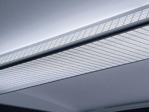 Perforated steel sheets with straight round end slot holes used as shades